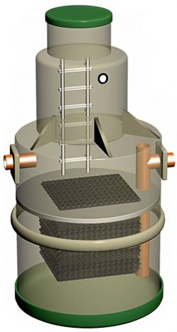 Коалесцентный модуль в нефтеловушке
