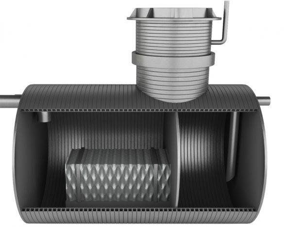 Схема устройства нефтеуловителя